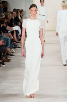 Ralph Lauren, Spring 2015...Simple clean & classic is how we'd describe this beautiful gown...