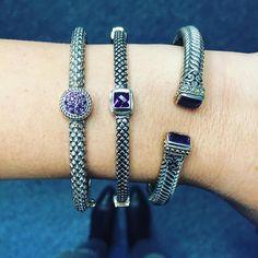Rockin' a stack of amethyst bangles bangles  #sterlingsilverjewelry #sterlingsilver #silverjewelry #jewelry #jewelrygram #bangles #stackedbracelets #stacked #amethyst #armparty  #instajewelry #instafashion #instastyle #instadaily #fashion #style #cirquejewels