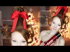 "How to Get Cindy Lou Who's Gravity-Defying Hair - - Spoiler alert: You're gonna need a cup for this ""How the Grinch Stole Christmas""-inspired look. Cindy Lou Who Hair, Cindy Lou Who Costume, Christmas Tree Costume, Christmas Hair, Funny Christmas, A Line Short Hair, Headband Hairstyles, Diy Hairstyles, Grinch"