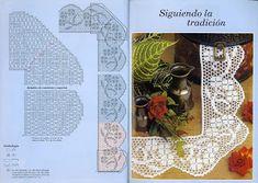 MIRIA ET PEINTURES crochets: LOCKED OUT AVEC COINS EN CROCHET DE FILET 7