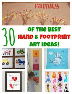 30+ of the BEST Hand & Footprint Art Ideas!