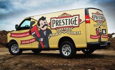 Vehicle wrap design for a plumbing, heating and air conditioning company in Illinois.