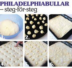 Philadelphiabullar – steg-för-steg.