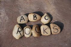 Easy to make Alphabet Rocks.  Great way to build upper and lowercase letter recognition plus early literacy skills.