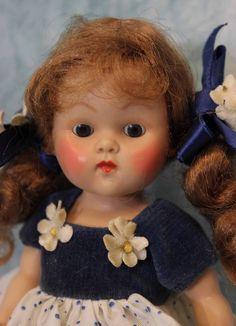 "Vintage Vogue Ginny 1951 Kindergarten Series ""Nan"" All original Great condition"