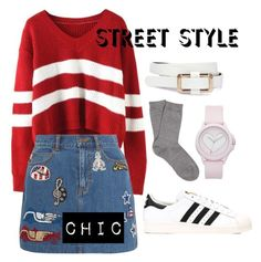 """""""Korean Street Fashion"""" by dcharisse on Polyvore featuring Marc Jacobs, adidas, Falke and Juicy Couture"""