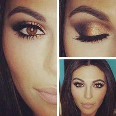 Brown eyes pop with this look - Gorgeous Eye Makeup - Augen Make Up Pretty Makeup, Love Makeup, Makeup Tips, Makeup Looks, Gorgeous Makeup, Makeup Ideas, Perfect Makeup, Makeup Tutorials, Amazing Makeup