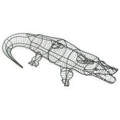 Alligator 23 x 123 x 50cm Topiary Wire Frame