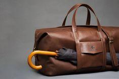 ALXNDR LEN Big size leather Duffle Bag