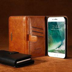 Cheap case for iphone, Buy Quality case plus directly from China case for Suppliers: FLOVEME Luxury Retro Leather Wallet Flip Cover Case For iPhone 7 Plus iPhone 6 Phone Coque For Samsung Galaxy Plus Iphone 7 Plus, Iphone 6, Iphone Cases, Apple Iphone, Flip Phones, Flip Phone Case, Cuir Vintage, Vintage Leather, Leather Case