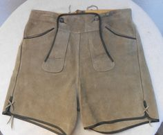 Authentic Vintage Grey Suede Lederhosen for by ShopGlammasAttic, $38.00