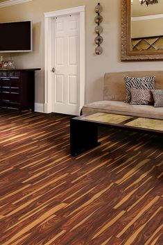 Give your room a facelift with easy-to-install Allure plank flooring. It snaps together over your existing floor and is completely water-resistant for life's little messes. Rich gold and brown tones make it great for basements, kitchens or mudrooms!