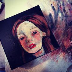 #painting #portrait #girl #courtney #cerruti