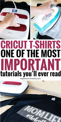 Make beautiful T Shirts with your Cricut Maker/Explore using Iron On. This is th… Make beautiful T Shirts with your Cricut Maker/Explore using Iron On. This is the best step by step tutorial you'll ever find! Cricut Vinyl, Vinyle Cricut, Iron On Cricut, Cricut Air 2, Cricut Help, Cricut Craft Room, Cricut Htv Shirts, Cricut Cake, Vinyl Shirts