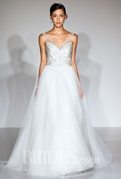 Nearly invisible straps are a great alternative to a strapless dress | Brides.com