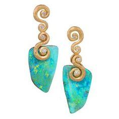 Pamela Froman opal earrings #opalsaustralia