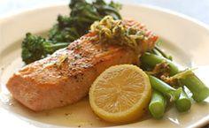 Receita de salmão assado com alecrim