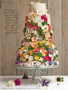 Stunning wedding cakes lookbook from Cakes by Krishanthi London saw this in a wedding mag just after we got engaged and from that moment wanted this as my cake!
