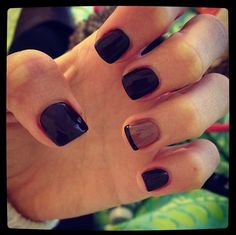 Cocoa brown and nude nails for fall