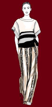 Dieses Outfit zeigt, wie die Vorzüge der Y-Figur mit trendy Streifen-Mustern hervorgehoben werden. Lesen Sie jetzt die Outfit-Analyse auf dem Blog der Modeflüsterin: www.modefluesterin.de