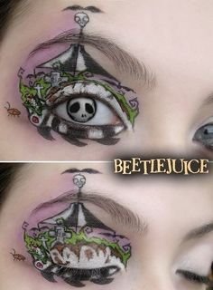 beetlejuice, circus, contacts, eye, fashion, make-up