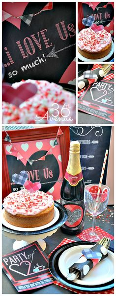 Ultimate Valentine's Day Printable Pack Sale Party of 2 At-Home Date Night- this is SO cute! {and lots of other fun printables on here too!}Party of 2 At-Home Date Night- this is SO cute! {and lots of other fun printables on here too! Holiday Parties, Holiday Fun, Holiday Gifts, Date Night Basket, At Home Date Nights, Dinner For 2, Valentines Day For Him, Heart Day, Love And Marriage
