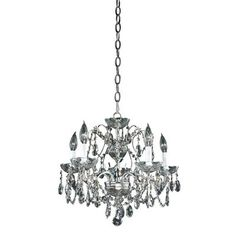 Glow Lighting Veranda Silver Pearl Incandescent Chandelier - The Home Depot Home Depot, Ornamental Mouldings, Lighting Store, Crown Jewels, Silver Pearls, Chrome Finish, Light Fixtures, Glow, Ceiling Lights