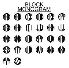 YETI Monogram Decal  Car  Tumbler  Block by BecauseYoureUniqueFL