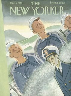 The New Yorker - Saturday, May 5, 1945 - Issue # 1055 - Vol. 21 - N° 12 - Cover by : Rea Irvin