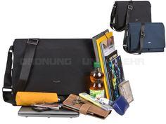 Bugatti CONTRATEMPO - Messenger Bag Umhängetasche Notebooktasche - schwarz oder blau 498252
