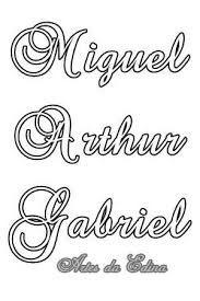 Resultado de imagem para gabriel nome para pintar tecido