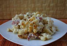 Fokhagymás-tejes galuska juhtúróval Pasta Dishes, Potato Salad, Cauliflower, Macaroni And Cheese, Bacon, Food And Drink, Potatoes, Vegetables, Cooking