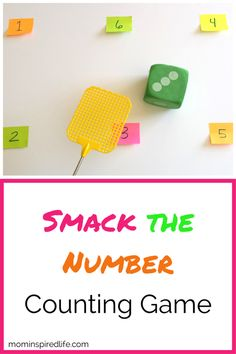 Preschool kids will have a blast while playing this simple Smack the Number coun. Preschool kids will have a blast while playing this simple Smack the Number counting game! Teaching Numbers, Numbers Preschool, Math Numbers, Preschool Lessons, Preschool Learning, Learning Activities, Preschool Activities, Number Games Kindergarten, Space Activities