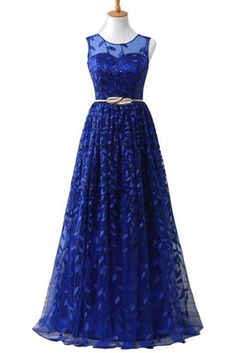 Royal Blue Lace Long Halter Prom Dress With Gold Belt on Luulla Classy Prom Dresses, Royal Blue Prom Dresses, Dresses For Teens, Pretty Dresses, Sexy Dresses, Evening Dresses, Casual Dresses, Dinner Dresses, Princess Dresses