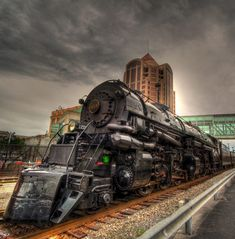 Old N&W steam engine 1218 in Roanoke,Va.