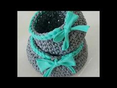 Canasta en crochet XL - YouTube