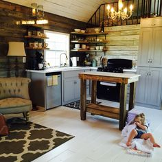 We are a family of five with one on the way! We've enjoyed living in our tiny home but my husband is being transferred and this is a fixed home on a pier and beam foundation. It sits on two acres and can be moved by a portable building mover. It has two large lofts that sleep 5 possibly more. A full kitchen and ...