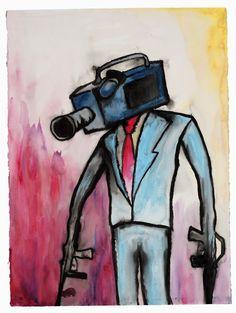 """Oh I'm Scared Now"" -original watercolor artwork by Marilyn Manson Art Marilyn Manson, Marilyn Manson Paintings, History Images, Watercolor Artwork, Watercolour, Animation, Art Music, Art Google, Digital Illustration"