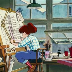 Image uploaded by ✣ A L E S S I A ✣. Find images and videos about girl, art and anime on We Heart It - the app to get lost in what you love. Studio Ghibli Art, Studio Ghibli Movies, Hayao Miyazaki, Totoro, Old Anime, Anime Art, Animation, Wallpaper Animé, Howl's Moving Castle