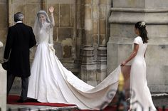 Kate Middleton Wedding Dress Pictures- She has my name, my body type, and my hair... thanks Catherine for helping a girl see how real royals do it, and taking a few notes for my own special day;)