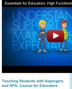Teaching Students with High-Functioning Autism & Asperger's  Pinned by @OptimalBegin  Pinterest@  http://pinterest.com/optimalbegin/   Web@ http://www.optimalbeginning.com  Facebook@ https://www.facebook.com/OptimalBeginningsLLC  An ABA firm in DC Metro