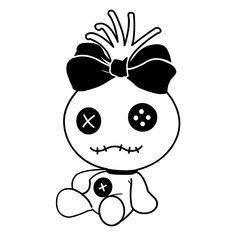 Lilo and Stitch Scrump Decal Disney Stitch Tattoo, Disney Tattoos, Disney Stich, Voodoo Doll Tattoo, Voodoo Dolls, Lilo And Stitch Doll, Lilo And Stitch Drawings, Disney Drawings, Cute Drawings