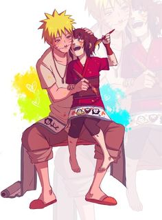 Naruto - awww this is soo cute, I like to think of Hinata as Naruto's little sister rather than as a couple - by BayneezOne