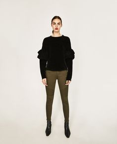 Image 1 of MID-RISE BIKER TROUSERS from Zara