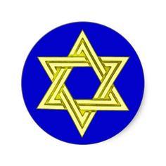 Star of David Wedding Invitation Envelope Seals Round Sticker