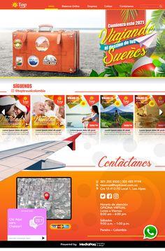 Diseño de sito web para agencia de viajes
