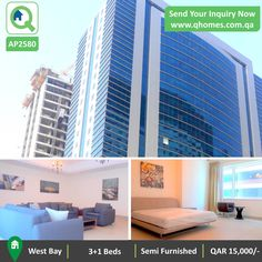 Apartment For Rent In Qatar Luxurious Semi Furnished 3 1 Bedrooms West