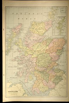 Original Wedding Gifts, United Kingdom Map, Cemetery Records, Scotland Map, Architectural Prints, Cactus Print, Bird Prints, Wall Art Decor, Vintage World Maps