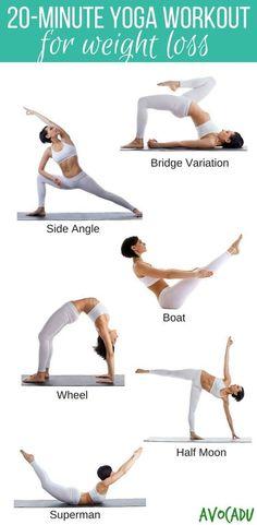 Dieses 20 minütige Yoga-Workout hilft dir beim Fett verbrennen. So kannst du schnell dein Gewicht reduzieren...