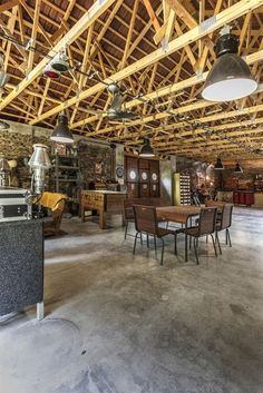 Arch Interior, My House, Conference Room, Barn, Table, Furniture, Home Decor, Converted Barn, Decoration Home